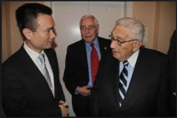 Ye Jianming and Henry Kissinger